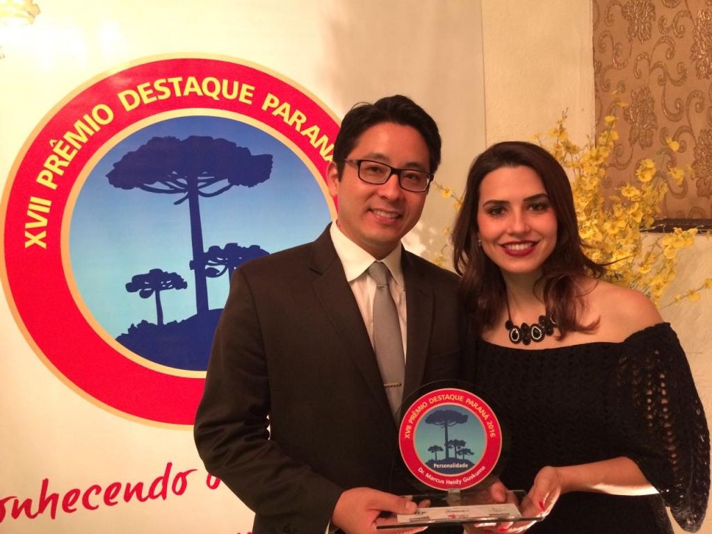 Dr. Marcos Guskuma recebeu o Prêmio Destaque Paraná 2016